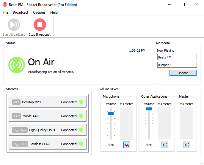 The Streaming Audio Encoder | Rocket Broadcaster